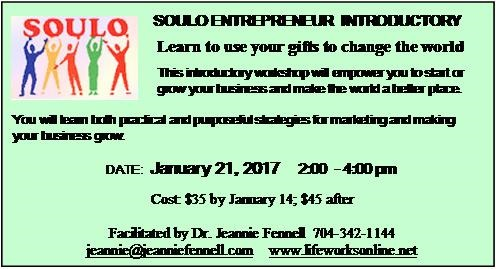 SOULO ENTREPRENEUR INTRODUCTORY